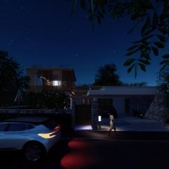 Villa vue avant - nuit