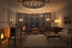 Salon baroque de nuit